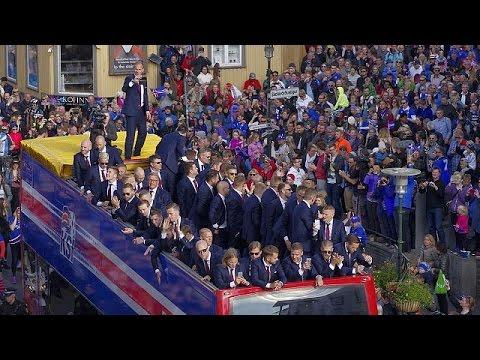 أيسلندا تستقبل منتخبها استقبال الأبطال