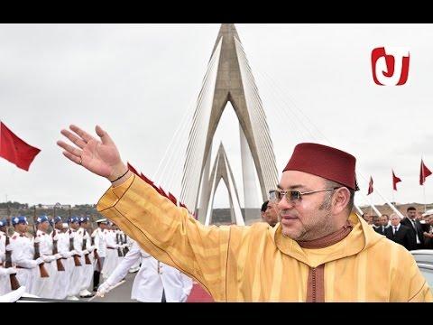 الملك محمد السادس يدشن أطول جسر معلق بإفريقيا