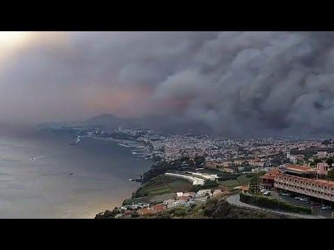 أربعة قتلى في حرائق الغابات بجزيرة ماديرا البرتغالية