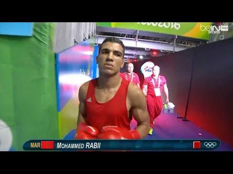 لحظة فوز البطل المغربي محمد ربيعي في ريو 2016