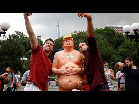 تماثيل عارية لدونالد ترامب في عدة مدن أمريكية