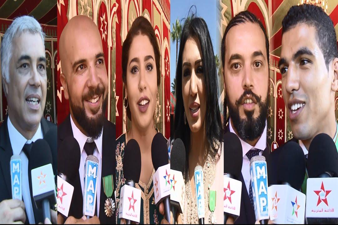 تصريحات لبعض الشخصيات التي وشحها الملك محمد السادس بالأوسمة