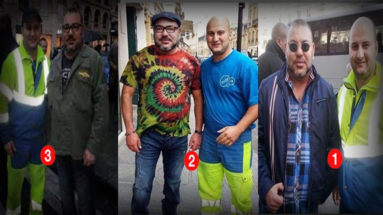 عامل نظافة مغربي بباريس يلتقى بالملك محمد السادس لـ 3 مرات في حياته !