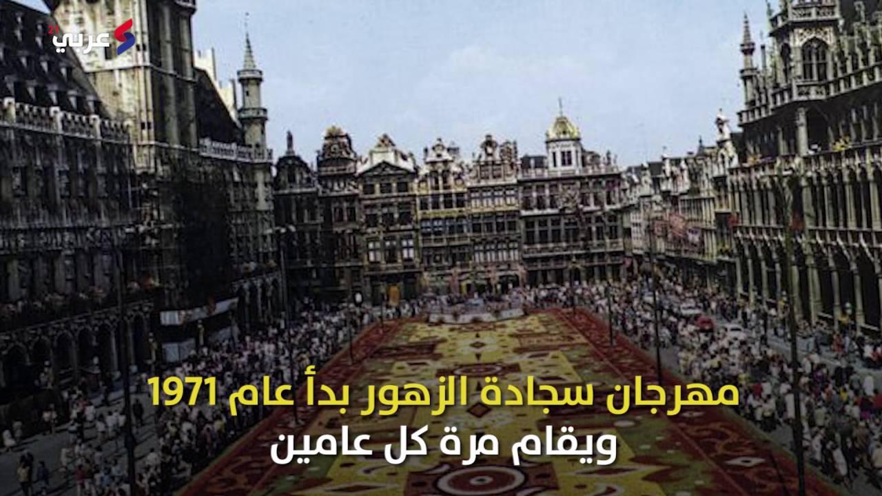 سجادة من 600 ألف زهرة تزين أكبر ميادين بروكسل