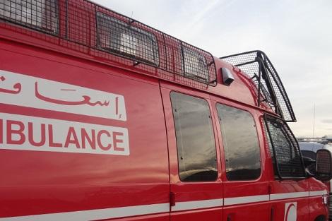 سيدي افني: شخص  سكران حاول الفرار من الأمن فسقط في جرف صخري