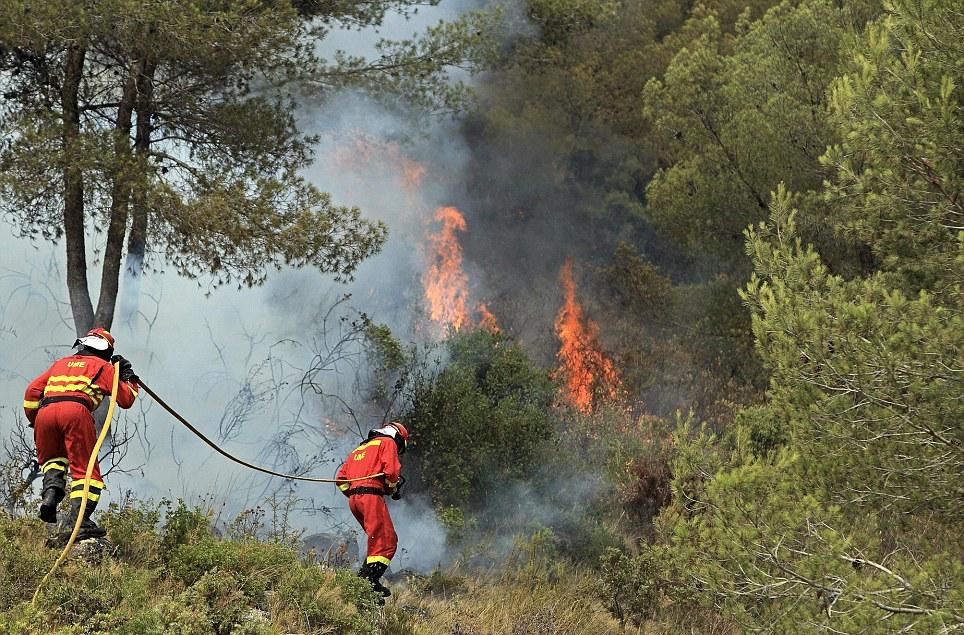 الأمن الاسباني يعتقل إمرأة يشتبه في إشعالها 15 حريقا
