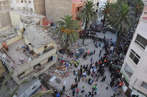 حصيلة جديدة لانهيار عمارة بالدار البيضاء : وفاة أربعة أشخاص وإنقاذ 24 آخرين
