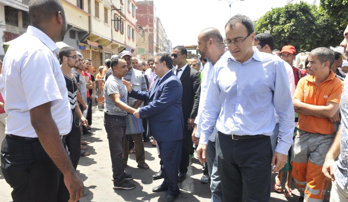 """رفع شعار """" ارحل"""" في وجه الاستقلالي غلاب في الدار البيضاء"""