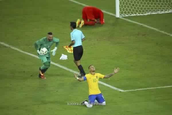 قدم نيمار تمنح الذهب للبرازيل في أولمبياد ريو