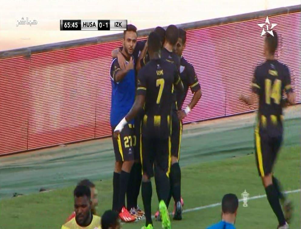 هدف لقاء حسنية أكادير 0-1 اتحاد الزموري للخميسات