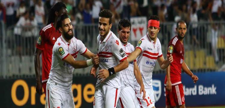 فريق الوداد البيضاوي يتفوق  على ضيفه الزمالك المصري 5-2 ويودع المنافسات