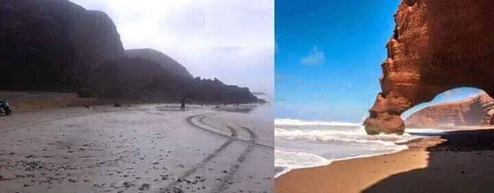سقوط احد المعالم السياحية البحرية بسيدي افني
