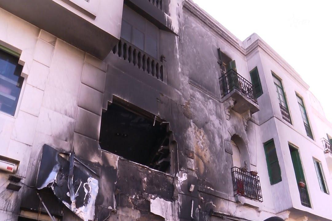 تماس كهربائي يتسبب في حريق بأحد المتاجر وسط مدينة تطوان