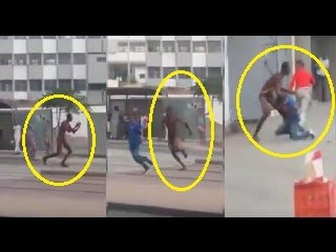 افريقي يمشي عاريا بسلا