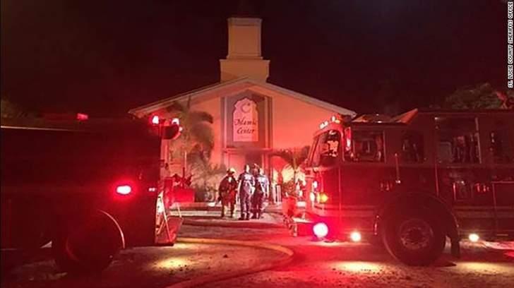 احراق مسجد كان يرتاده منفذ هجوم اورلاندو