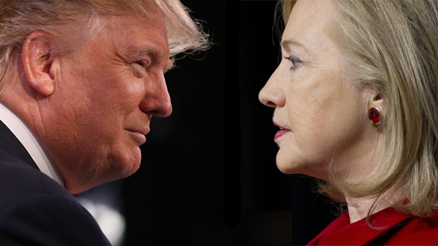 """ترامب يهاجم كلينتون بسبب """"تهاونها"""" مع المهاجرين"""