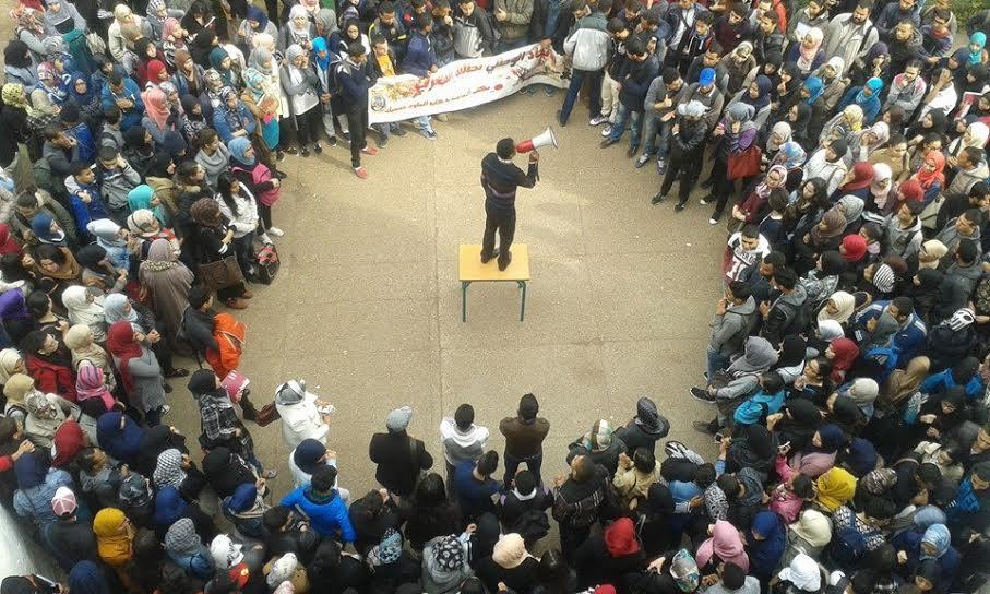 احتجاجات قوية على عميد كلية العلوم بن مسيك