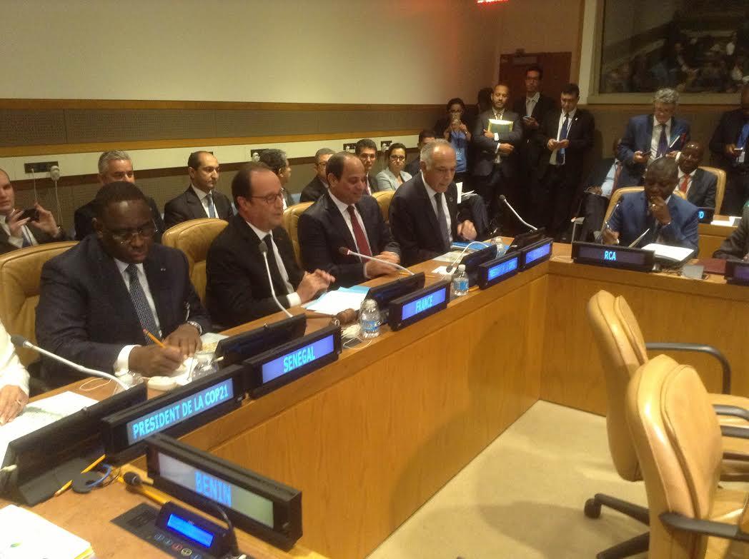 مزوار يجلس بجانب السيسي وهولاند بنيويورك ويترأس اجتماعا حول الطاقات المتجددة بإفريقيا