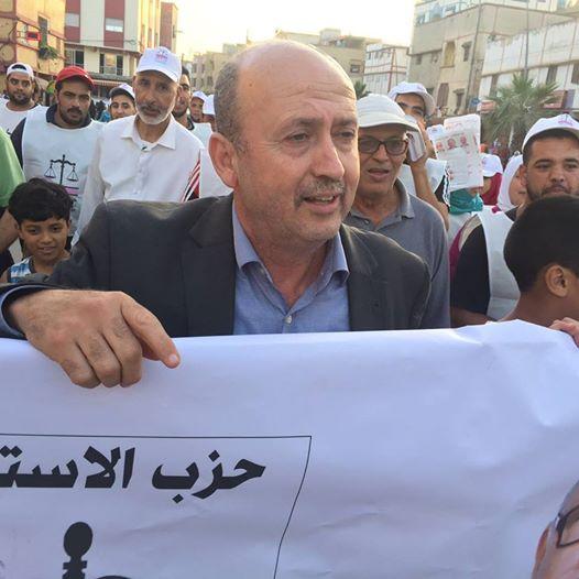 الدكتور فتحي يخرج في مسيرة بأحياء سلا ويفتح نقاشات موسعة مع المواطنين