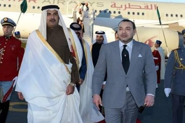 الملك محمد السادس يعزي أمير دولة قطر على إثر وفاة الأمير الأب، الشيخ خليفة بن حمد آل ثاني