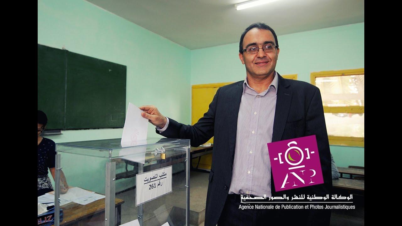 كريم غلاب يدلي بصوته في الإنتخابات التشريعية