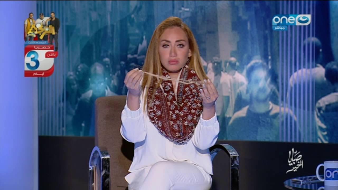 ريهام سعيد ترد على منتقديها في واقعة سقوط شعرها على الهواء!