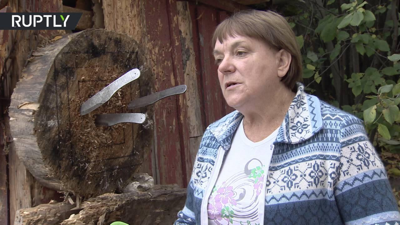 شبيهة ميركل من مقاطعة ريازان الروسية بطلة في رمي السكاكين