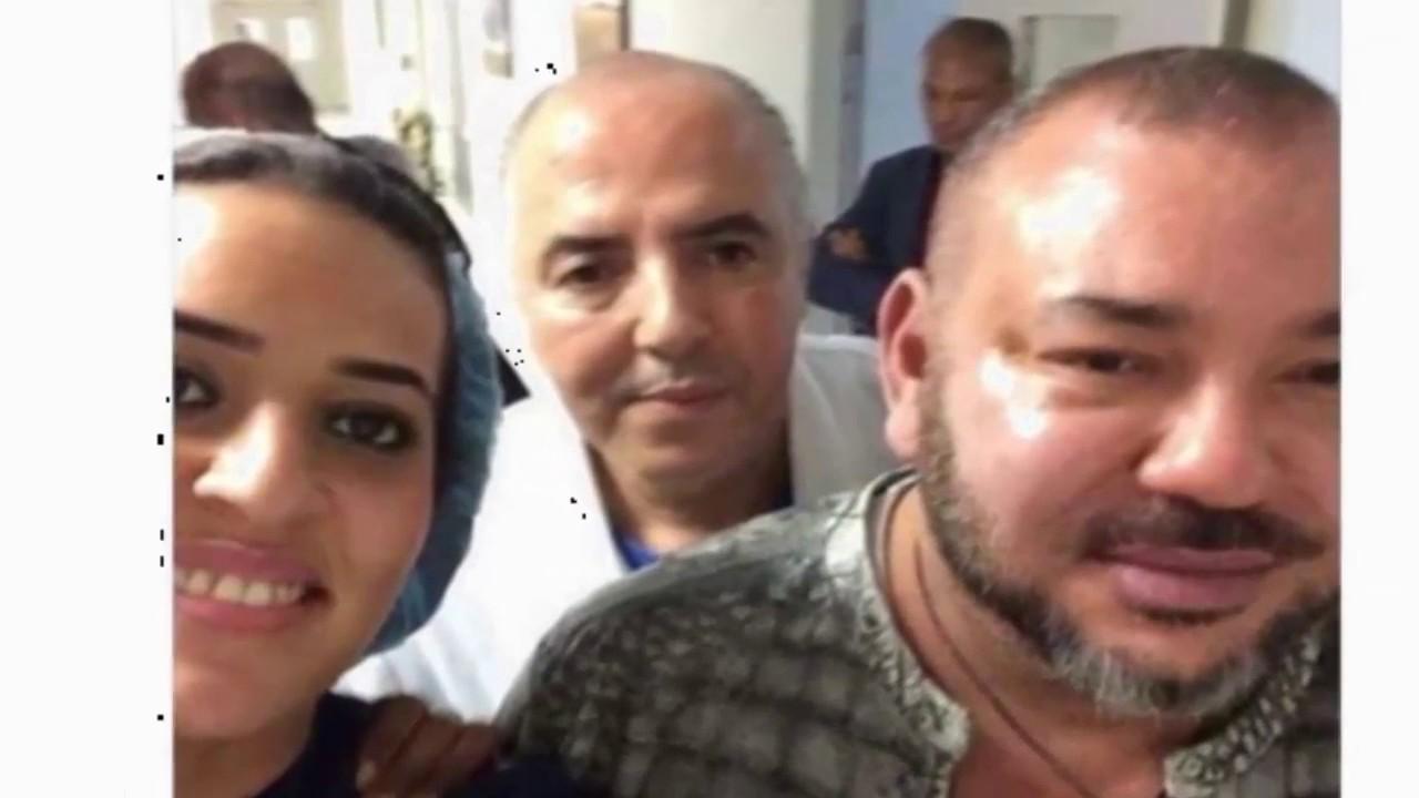 ممرضة تلتقط سيلفي مع الملك محمد السادس بالمستشفى !