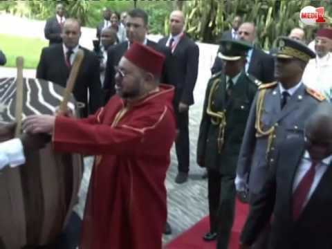 مشهد رائع للملك محمد السادس رفقة رئيس جمهورية تنزانيا