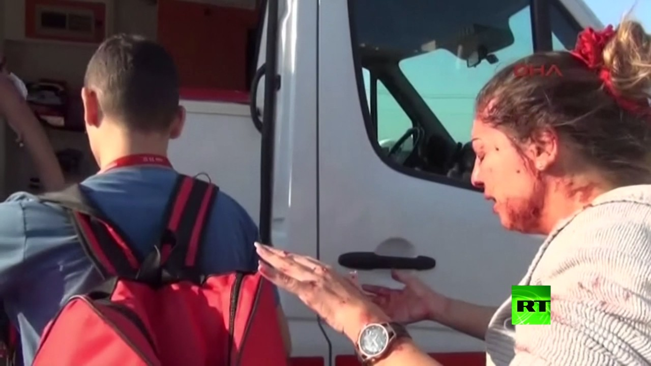 اللحظات الأولى بعد انفجار في موقف للسيارات في أنطاليا التركية