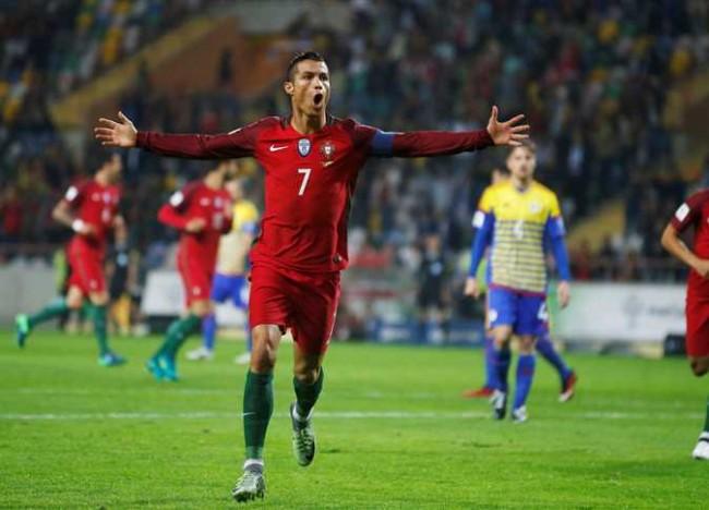 رونالدو يسجل أربعة أهداف ويقود البرتغال لفوز ساحق على اندورا
