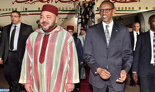 الملك محمد السادس يحل بكيغالي في زيارة رسمية لرواندا