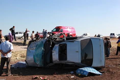 بعد عودتهما من حفل زفاف: مصرع سيدتين وإصابة تسعة أشخاص آخرين  في حادثة سير بالقرب من سوق السبت أولاد النمة
