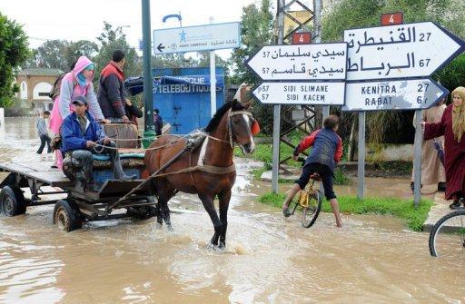 تقرير  يصنف فقراء المغرب الأقل حماية من مخاطر الفيضانات