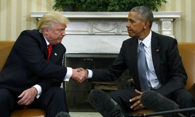 لصورة معنى…..هكذا التقى ترامب بأوباما