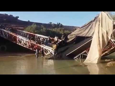 خطير: شاحنة تتسبب في انهيار قنطرة بين تاكلفت واواوزغت إقليم ازيلال