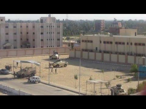 شاهد عملية هروب سجناء بمصر