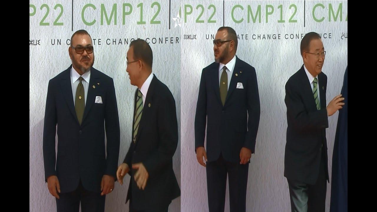 موقف محرج لبان كي مون أمام الملك محمد السادس