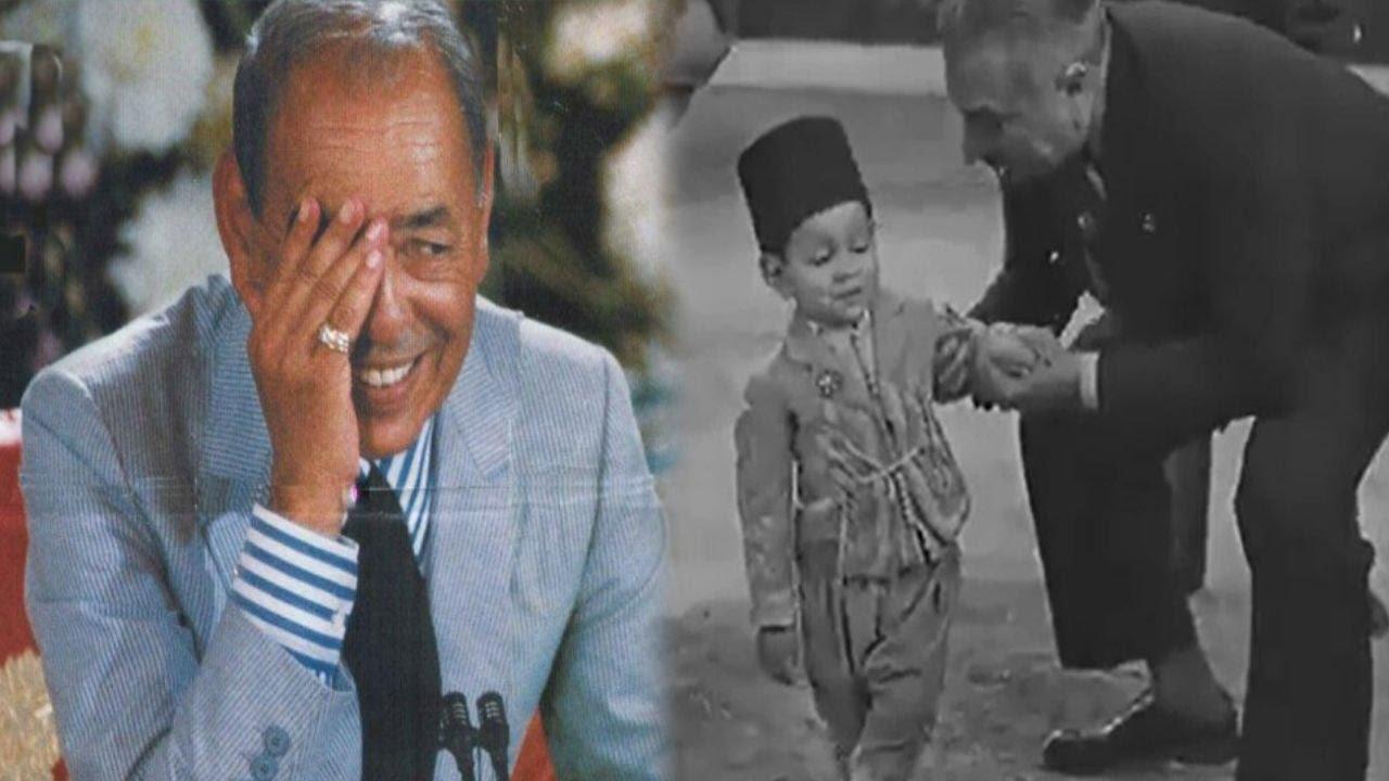 مـقطع نادر للملك الراحل الحسن الثاني و هو طفل عمره ثلاث سنوات بباريس سنة 1932