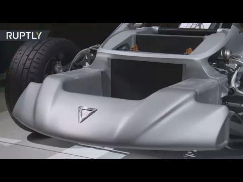 أول سيارة خارقة مطبوعة تعرض في لوس أنجلس