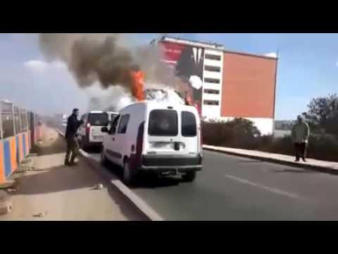 فيديو .. اندلاع حريق مهول في حافلة للركاب بالدار البيضاء