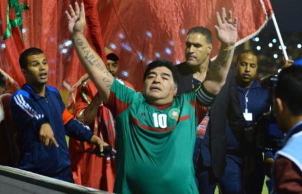 مارادونا من قلب مراكش: يحيا الملك، يحيا المغرب تحيا الصحراء