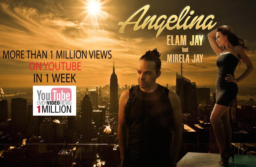 """انجلينا """" لإيلام جاي تتخطى المليون مشاهدة على اليوتيوب في أسبوع واحد"""""""