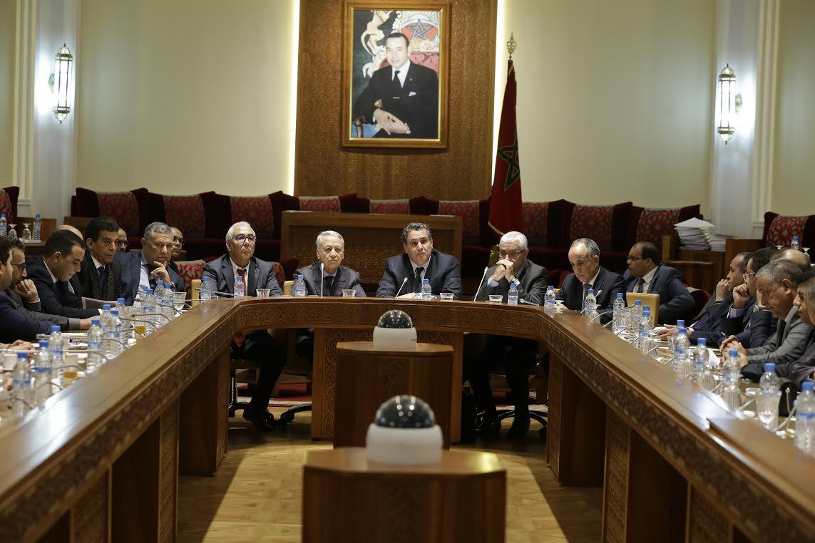 أخنوش وساجد يجتمعان مع برلماني التجمع والدستوري