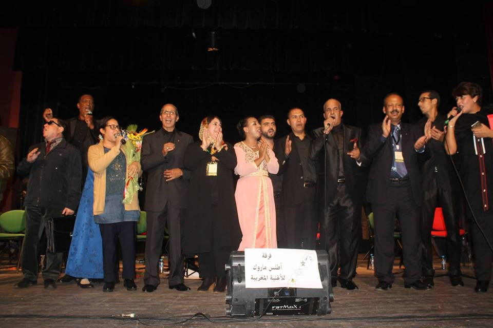 تكريم محمد عزام والطاهر وقادة في حفل الإعلان الرسمي عن تأسيس فرقة أطلس ماروك للأغنية المغربية بسلا الجديدة