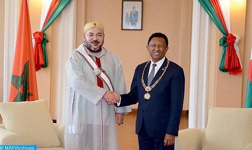 المغرب ومدغشقر يعبران عن ارتياحهما لعمق أواصر الصداقة والتضامن القائمة بينهما
