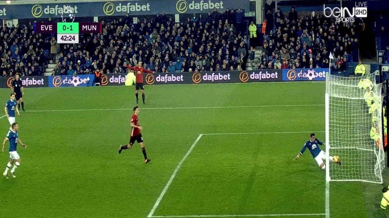 هدف ابراهيموفيتش مباراة مانشستر يونايتد و ايفرتون 1-1