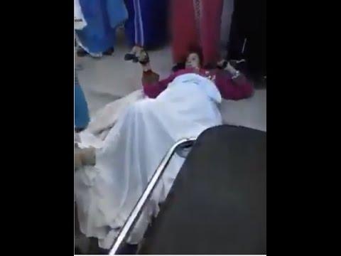 خطير شاهد المراة  التي وضعت مولودها امام العامة بمستشفي لالة مريم بالعرائش