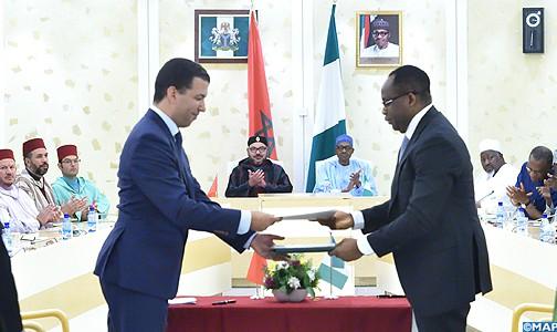 الملك محمد السادس في تحرك قوي بإفريقيا ويطلق مع الرئيس النيجيري  مشروع إنجاز خط أنابيب للغاز يربط نيجيريا والمغرب